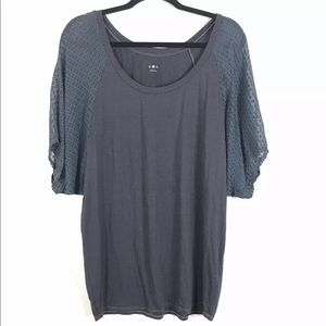 3/$25 Three Dots Gray Top